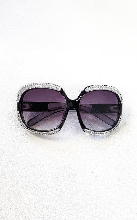 Miya Oversized Diamante Sunglasses