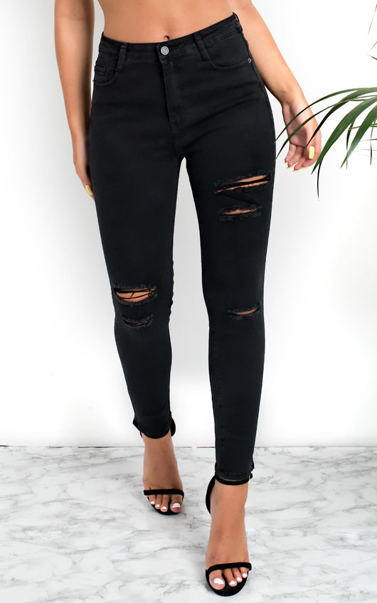 Miyah Ripped Skinny High-Rise Jeans