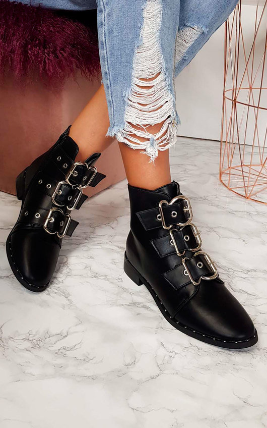 Mollie Buckle Ankle Boots