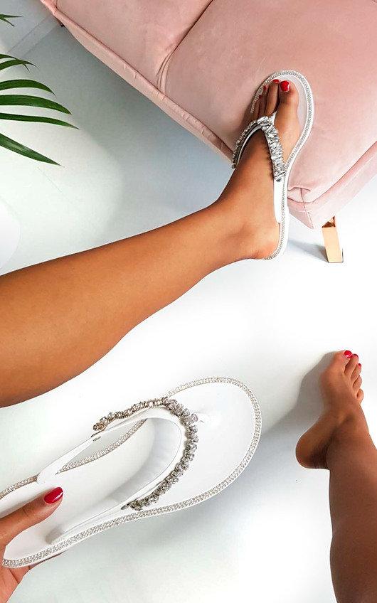 Molls Diamante Flip Flop Sandals