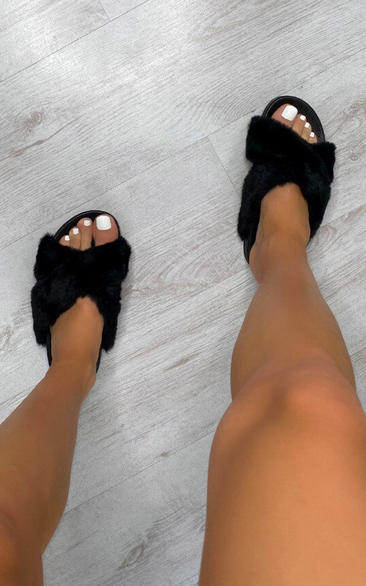 Molly Faux Fur Sandals