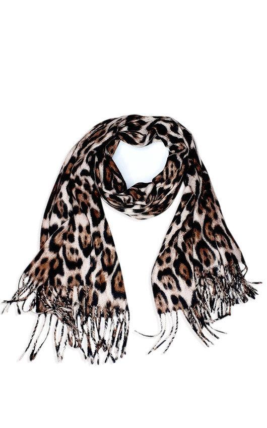 Mona Leopard Detail Scarf