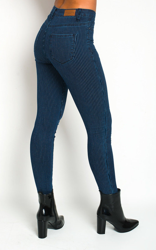 Monah Striped Skinny Jeans