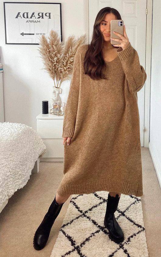 Monica Longline Knitted Maxi Dress