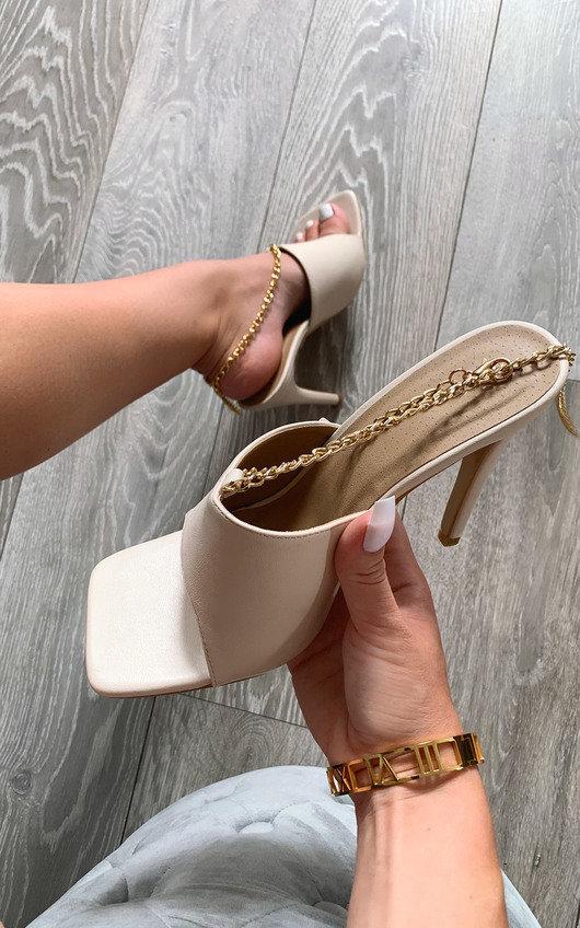 Monique Chain Detail Heels