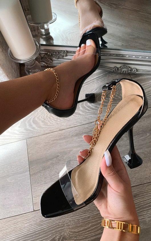 Savannah Chain Detail Heels