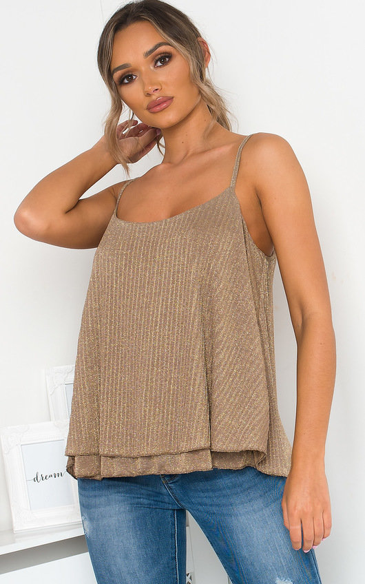 Morgan Glitter Cami Top