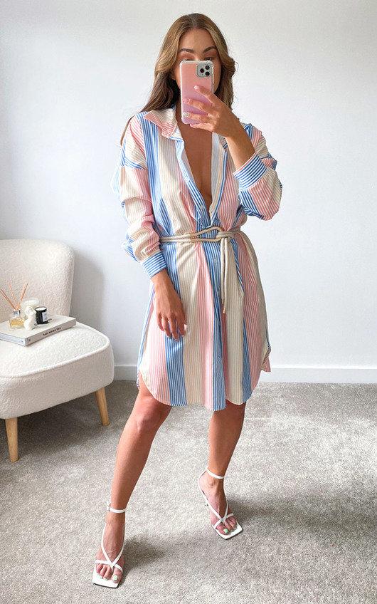 Murcia Striped Shirt Dress