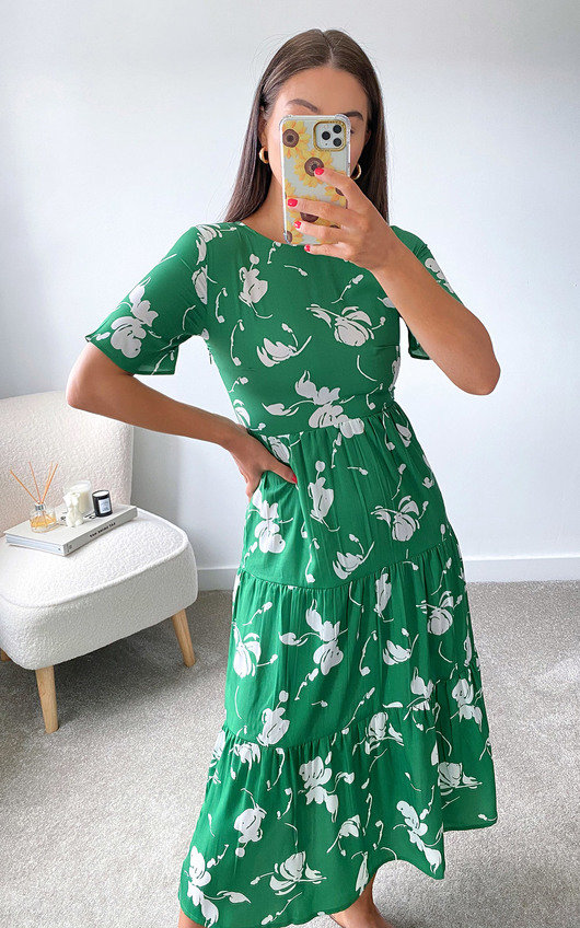 Muriel Tiered Midi Dress