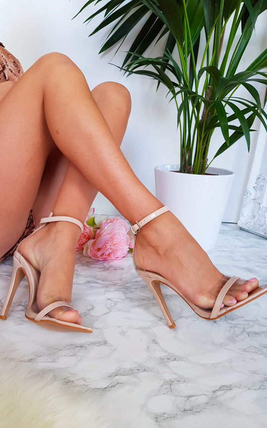 Mya Perspex Barely There Pointed Heels