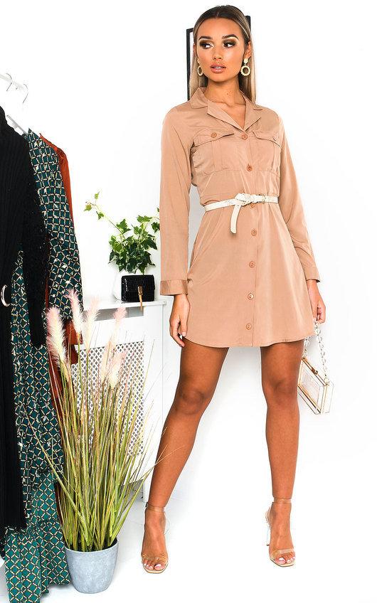 Mylo Satin Shirt Dress