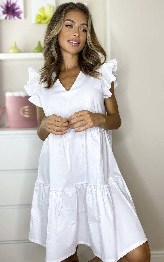 Nadia Layered Frill Sleeve Shift Dress