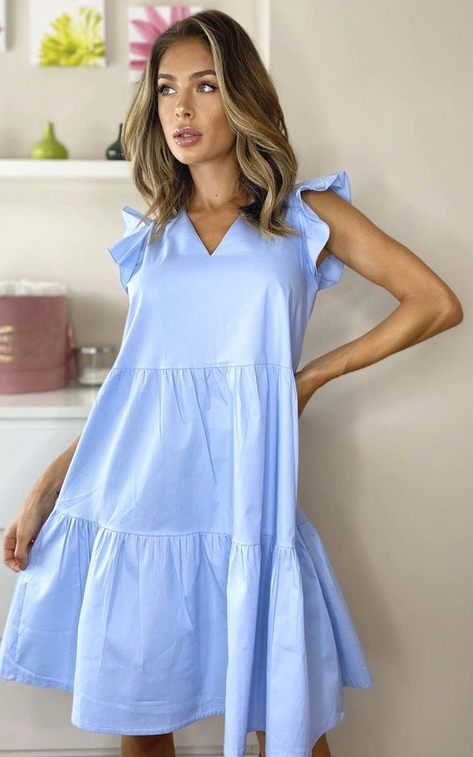 Nadia Layered Frill Sleeve Shift Dress
