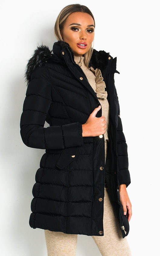 Nadia Padded Hooded Longline Puffer Jacket