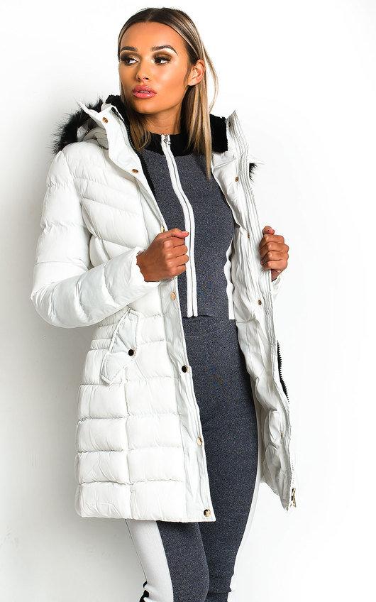 Nadia Padded Hooded Longline Puffer Jacket