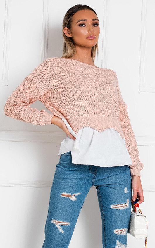 Nadya Knitted Shirt Jumper