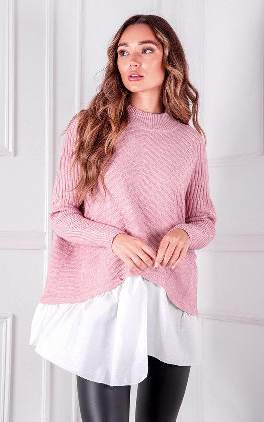 Nahla Knitted Shirt Jumper
