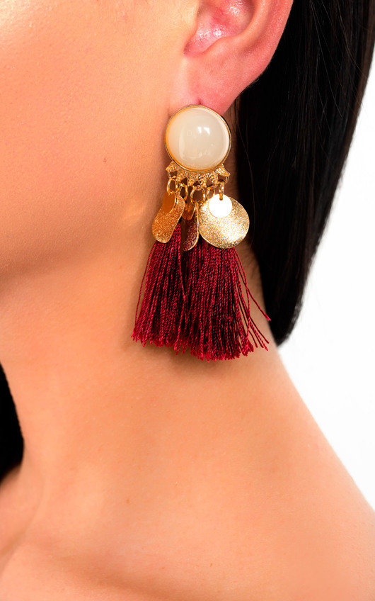 Nancy Tassel Drop Earrings