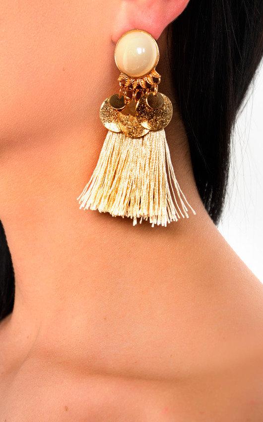 Nancy Tassel Drop Earrings