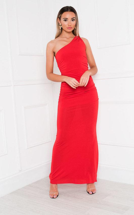 Naomi One Shoulder Bodycon Maxi Dress