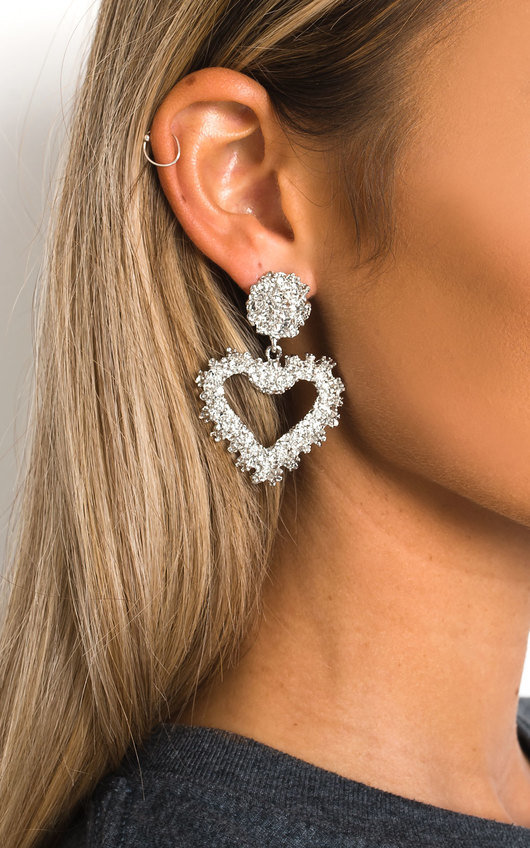 Nascera Statement Heart Earrings