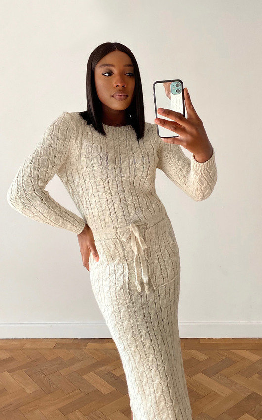 Naya Knitted Midi Dress