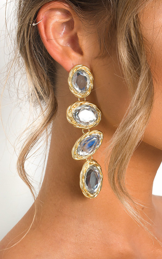 Neeka Multi Jewel Drop Earrings
