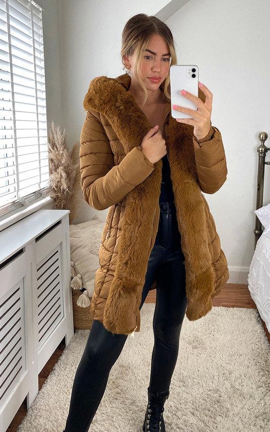 Neesa Faux Fur Padded Puffer Coat