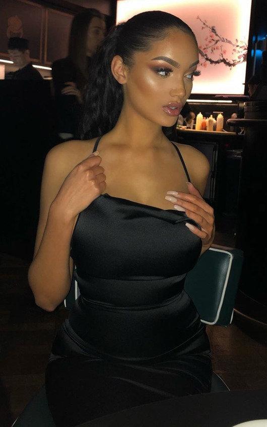 Neesa Satin Backless Mini Dress