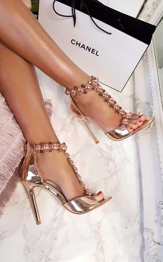 Nella Embellished T-Bar Heels