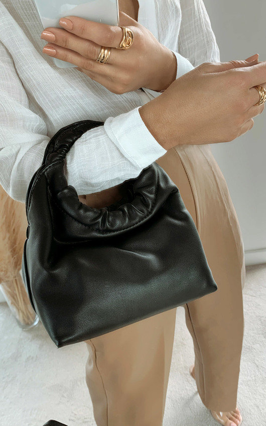 Nellie Faux Leather Pouch Bag