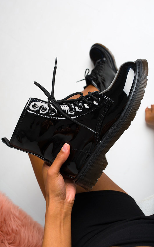 Lila Lace Up Biker Boots
