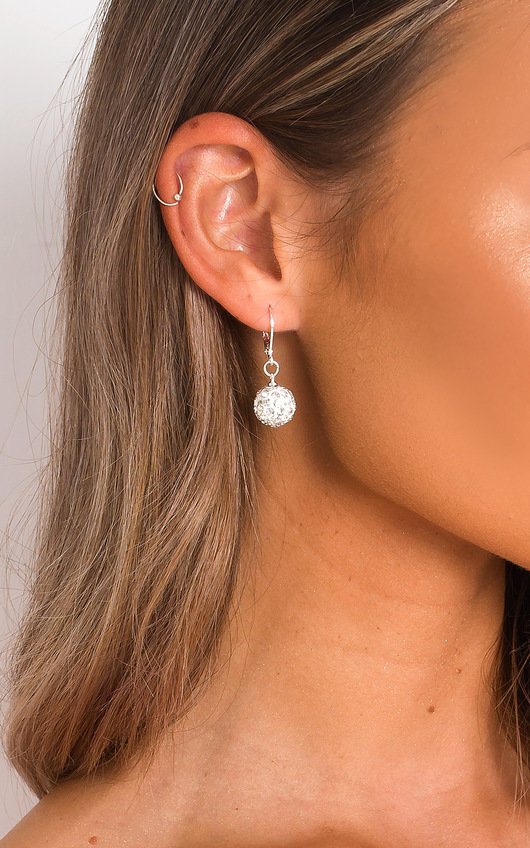 Nia Diamante Ball Drop Earrings