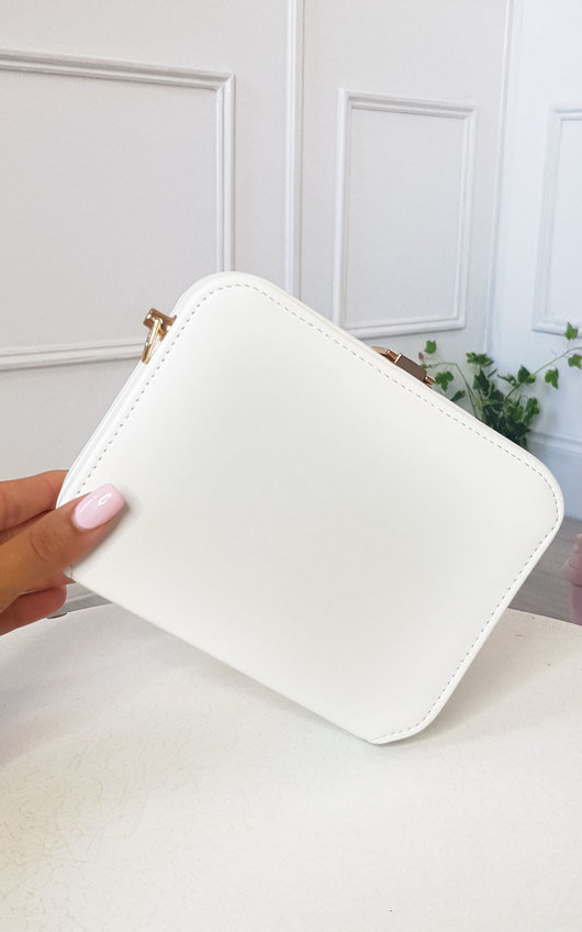 Nic Faux Leather Box Clutch Bag