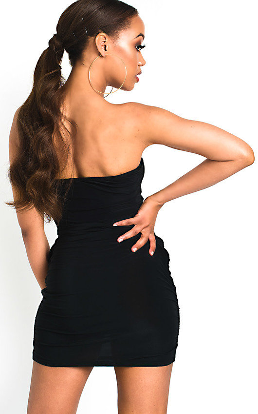f4be82a474ad Nicci Slinky Bandeau Mini Dress in Black | ikrush