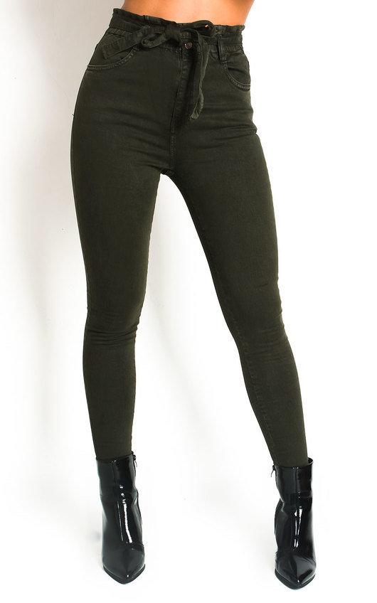 Nicki Tie Waist Denim Jeans