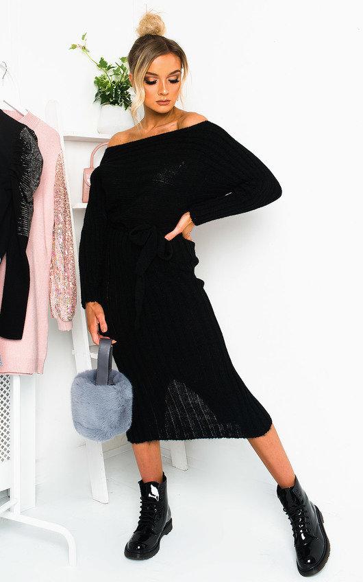 Nicole Off Shoulder Knitted Jumper Dress