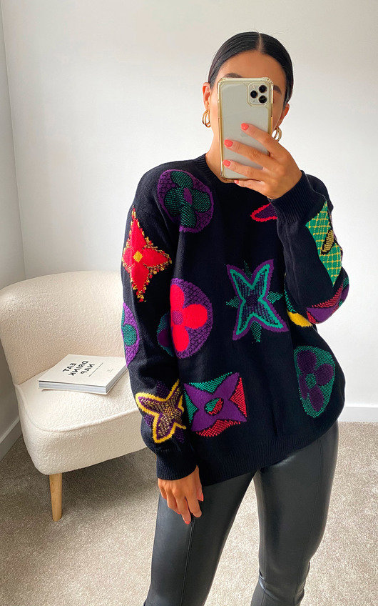 Nicolle Printed Graphic Knitted Jumper
