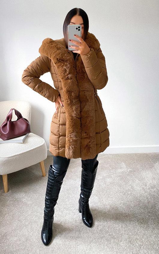 Nikay Faux Fur Padded Coat