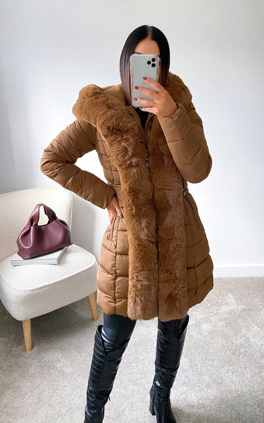 Nikay Faux Fur Padded Coat
