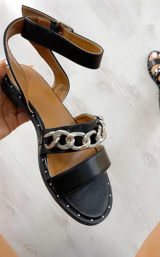Nikki Chain Detail Sandals