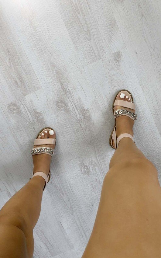 Nikki Chain Detail Sandals