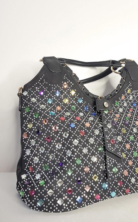 Nilah Embellished Slouch Handbag