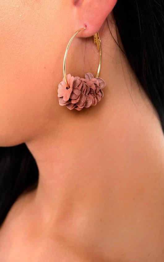 Nina Flower Hoop Earrings