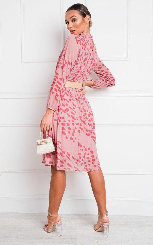 Nina High Neck Midi Shift Dress