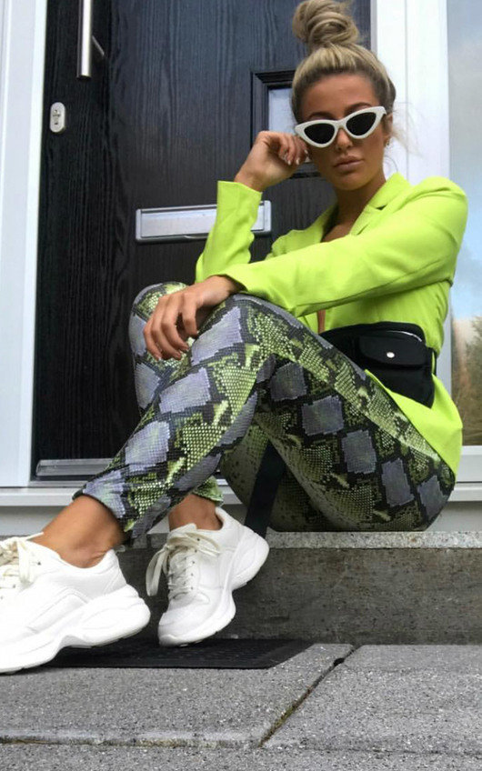 Nina High Waist Snake Trousers
