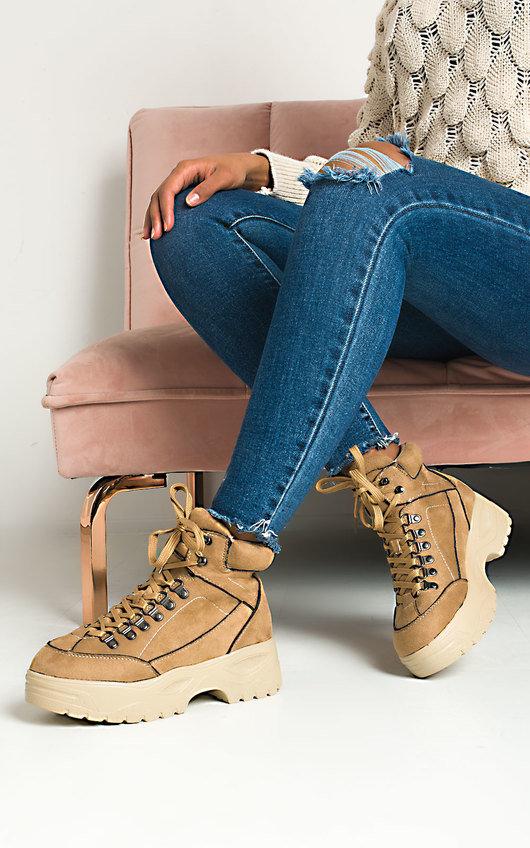 Nina Lace Up Flat Boots