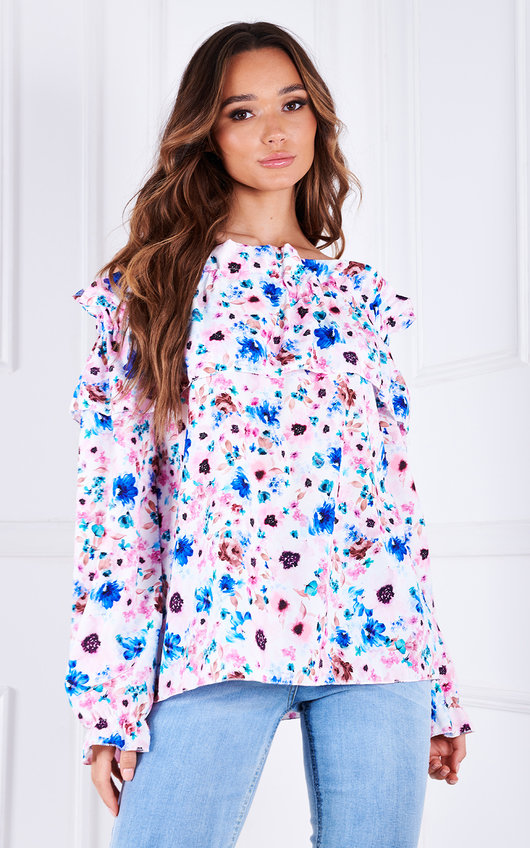 Nina Off Shoulder Floral Printed Top