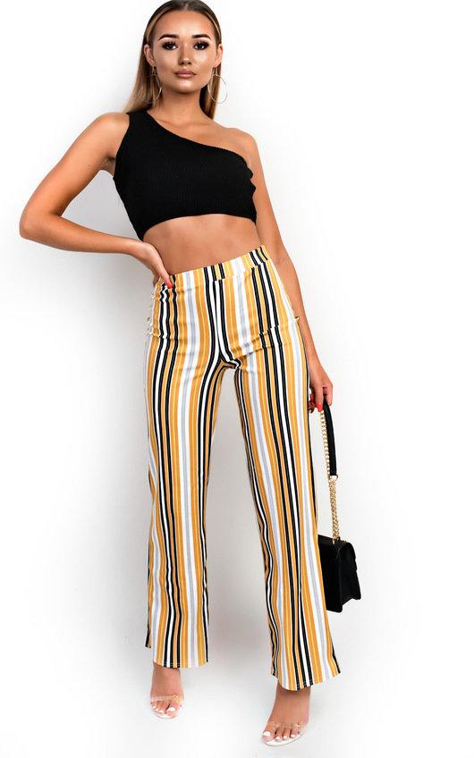 Ninna High Waist Striped Trousers