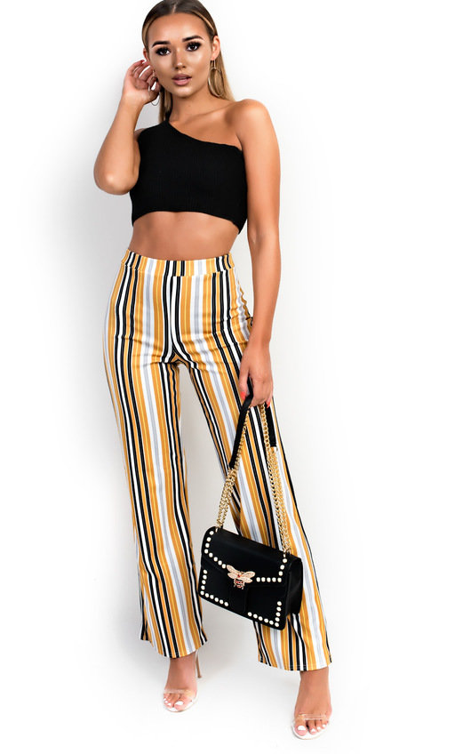 Ninna High Waist Striped Trousers